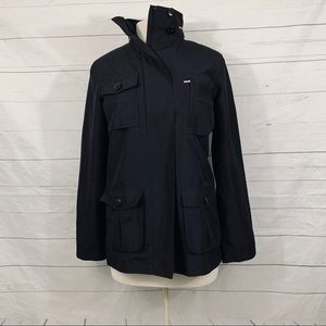 Ralph Lauren black trench rain jacket parka xs